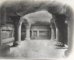 The old Buddhist Caves at the Uparkote [Junagadh]